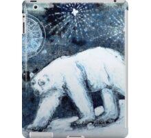 Polar bear under starry skies iPad Case/Skin