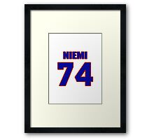 National football player Laurie Niemi jersey 74 Framed Print