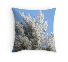 Frost on the tree... Throw Pillow