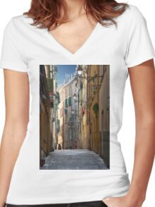 French Solitude Women's Fitted V-Neck T-Shirt