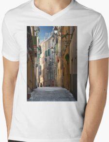 French Solitude Mens V-Neck T-Shirt