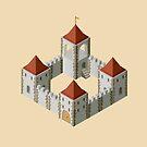 Medieval castle by Alexzel