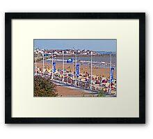 Bridlington beach in summer Framed Print