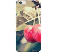 A pair of cherries iPhone Case/Skin
