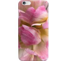 Close-up of a Soft and Frilly Pink & White Tulip ~ Pretty Spring Flower in Bloom iPhone Case/Skin