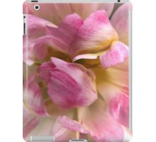 Close-up of a Soft and Frilly Pink & White Tulip ~ Pretty Spring Flower in Bloom iPad Case/Skin