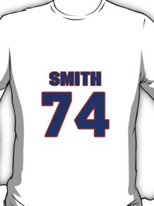 National football player Brent Smith jersey 74 T-Shirt