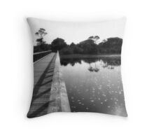by the lily pad pond  Throw Pillow