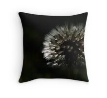 backlit dandelion Throw Pillow