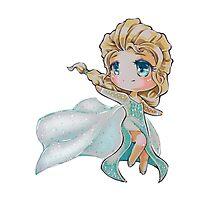 Chibi Snow Queen Elsa Photographic Print
