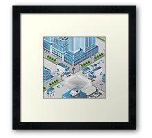 Urban crossroads Framed Print