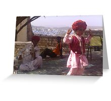 Traditional child folk dancer from rajasthan. Greeting Card