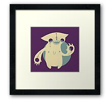 Monster Cat Framed Print