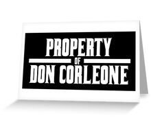 Property of Don Corleone Greeting Card