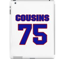 National football player Oniel Cousins jersey 75 iPad Case/Skin