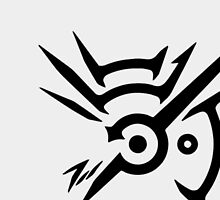 Dishonored Black and White Logo by limon93