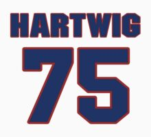 National football player Justin Hartwig jersey 75 by imsport