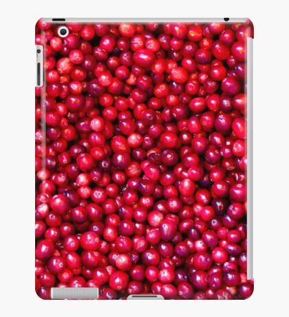 Cranberry Harvest - Fall Autumn Season - Plentiful Red Berries iPad Case/Skin