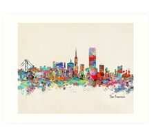 San Francisco California sklyine Art Print