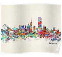 San Francisco California sklyine Poster