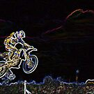 Motorcross with Glowing Edges by qshaq