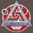 Alien Mars & Titan Colony Logo (scuffed) by Pango