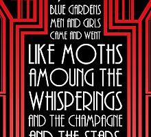 "Gatsby Quote Christmas Card - ""Blue Gardens"" by DaDobinator"