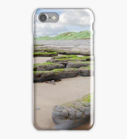 mud banks and dunes at Beal beach iPhone Case/Skin