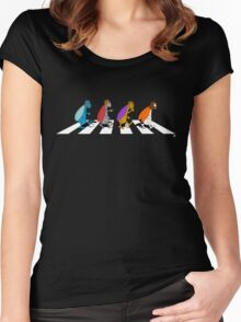 Beetles on Abbey Road Women's Fitted Scoop T-Shirt