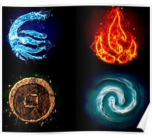 Avatar Four Elements  Poster