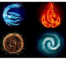 Avatar Four Elements  Photographic Print