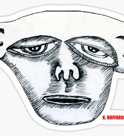 Monkey Head Sticker