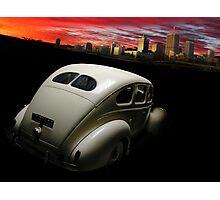Racing the sunset Photographic Print