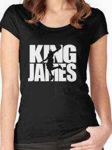 Lebron James - King James Women's Fitted Scoop T-Shirt