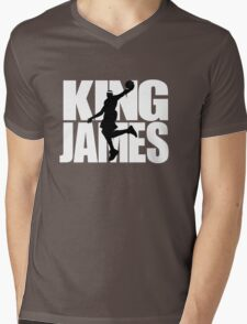 Lebron James - King James Mens V-Neck T-Shirt