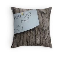 simple question, hard answer Throw Pillow