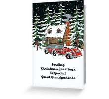 Great Grandparents Sending Christmas Greetings Card Greeting Card