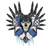 Wolf's Head Emblem Photographic Print