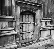 Bodleian Library Black and White Door by Nicole Petegorsky
