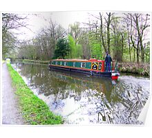 Canal Barge Poster