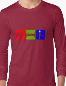 EAT SLEEP  PEE HOTEL SIGN Long Sleeve T-Shirt