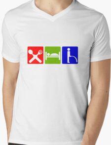 EAT SLEEP  PEE HOTEL SIGN Mens V-Neck T-Shirt