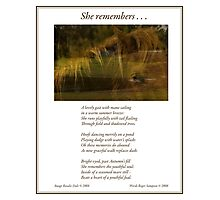 Collaboration ~ She Remembers . . . Photographic Print