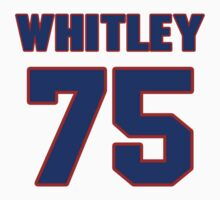 National football player Wilson Whitley jersey 75 by imsport