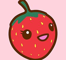 Kawaii Strawberry by sweetkawaii