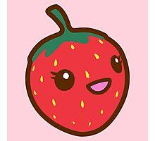 Kawaii Strawberry Photographic Print