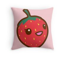 Kawaii Strawberry Throw Pillow