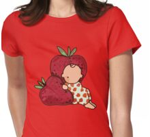 STRAWBERRY KID CUTE  Womens Fitted T-Shirt