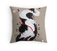 WHITE FOX RIBBONS  Throw Pillow