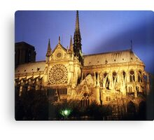 Notre Dame Cathredral, Paris at Sunset Canvas Print